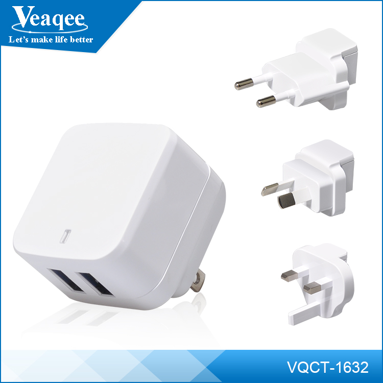 Veaqee home wall charger ,hot sale 5v 2a eu usb wall charger home charger