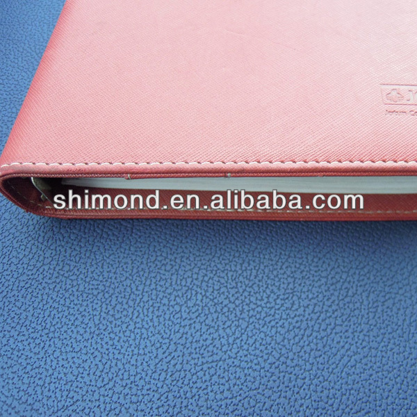 Clear Embossed grain PU leather book cover