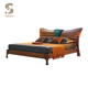 Hot Sale modern luxury bedroom furniture set wood short legs double bed