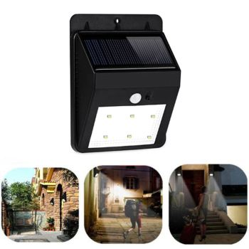 6LED,0.5W,60Lm,Solar LED wall Fitting integrated with photocell and motion sensor,IP64,Sensor Solar LED Wall Fitting
