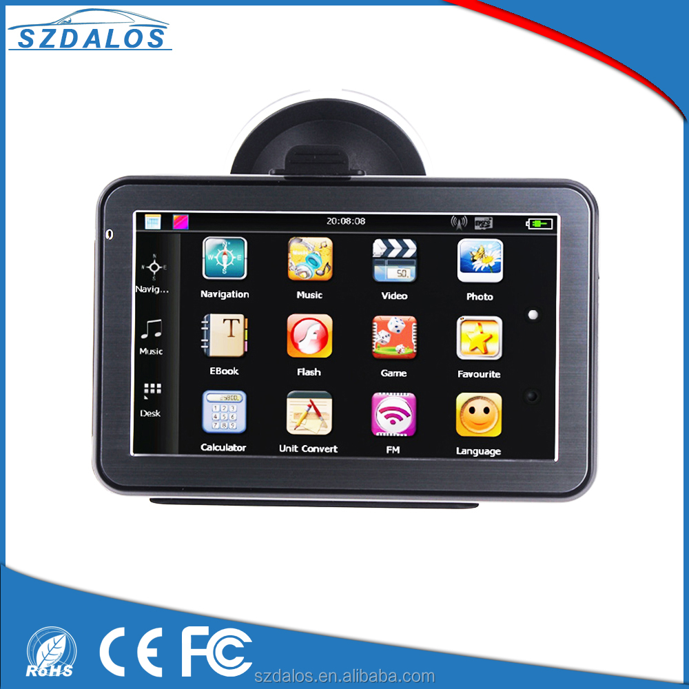 Free Newest map Portable 5 inch windows ce 6.0 gps software