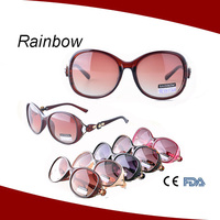 New trend gradual color sunglasses ready stock temple flower ready eye glasses 5517