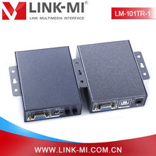 LINK-MI LM-101TR-1 328ft/100m Audio & VGA Over Cat5 cable Extender Transmitter and Receiver With 3.5mm Stereo Jack