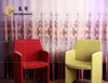 shining flower pattern sheer embroidery curtains for bedroom