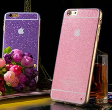 Soft Gel TPU Mobile Case Bling Glitter Candy Phone Case Cover For Apple iPhone 5S 6 Plus TPU iPhone 6 Case