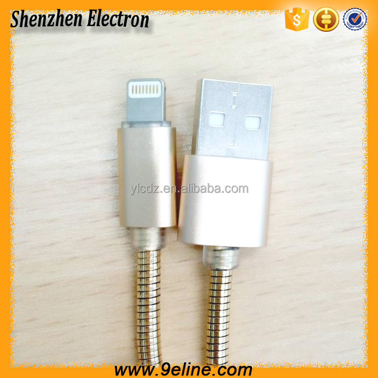 Durable elastic metal jacket driver download usb data cable for iphone 5