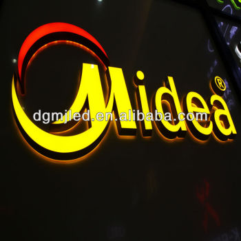 Manufacture of high quality acrylic led letters advertising signs for outdoor
