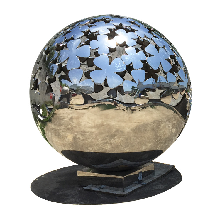 Famous lighting hollow stainless steel sphere for garden decoration