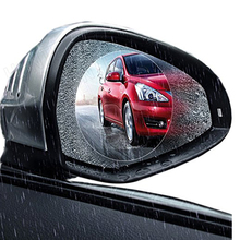 Automobile Car Motorcycle Anti Water Anti Fog Rearview Mirror Screen Protector Rainproof Film 95*95mm