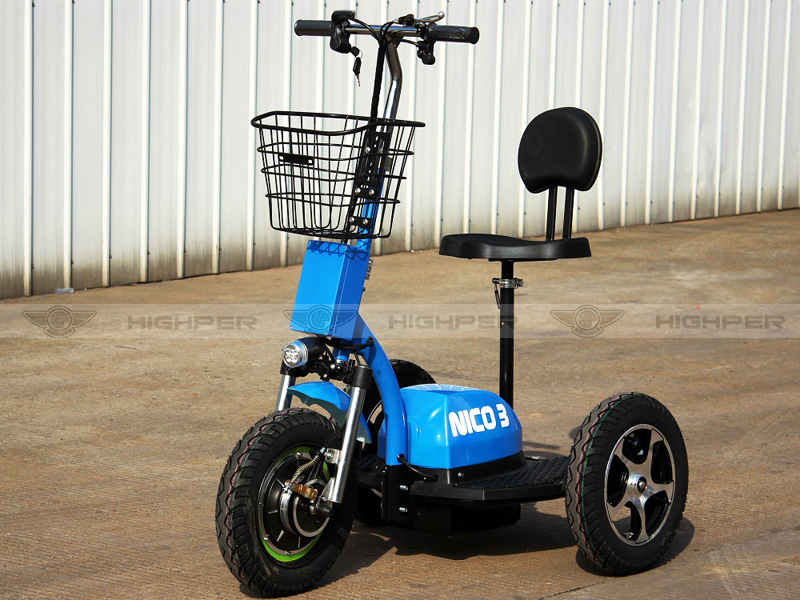 Three Wheel Electric Mini Scooter Disabled Tricycle For