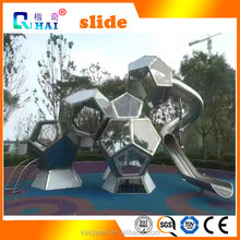 Stainless steel color DIY Single slide children indoor playground for home