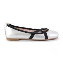 Girls latest fashion design flat ladies shoes beautiful leather footwear for women