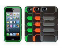 Snap-on Rubber Coated TPU & PC Case For Apple iPhone 5