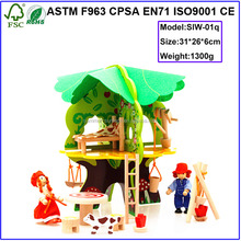 Alibaba manufacturers wooden tree doll house Children's Toys