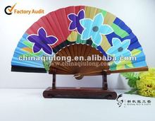 2012 Hot sale!!! Personalized folding wooden hand fans, custom made gift&promotion held fan
