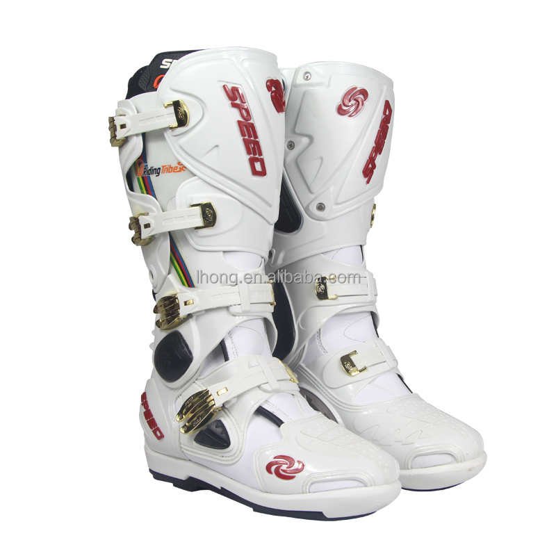 Cool Racing Boots Waterproof Motocross Shoes Black ,White ,B1004