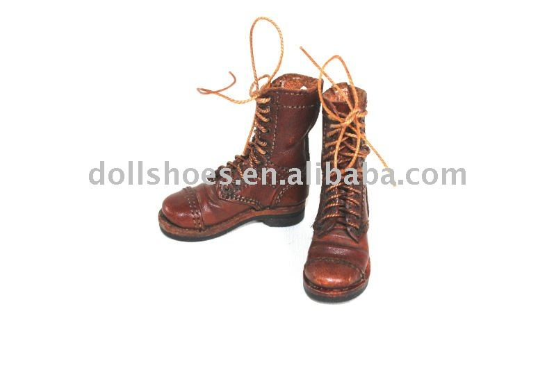 high top brown BJD doll boots bjd shoes doll accessories