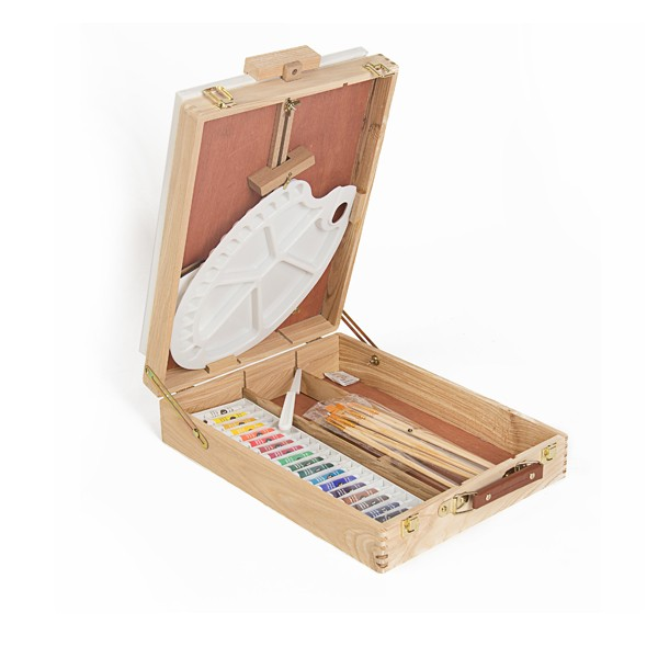 Wholesale 38Pcs Deluxe Art Set, Wood Box Art Sets Stationery for Children, Kids, Adults Drawing