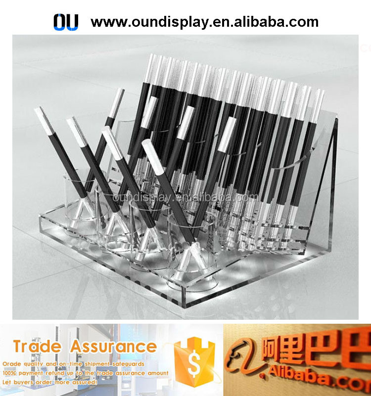 custom clear acrylic mac brushes cosmetic brushes set display holder