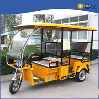semi-enclosed electric rickshaw tricycle for passenger