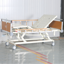 Multifunctional manual remote motorised control semi linak wooden electric hospital bed