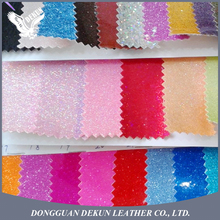 Customied color 0.6mm thickness vinyl leopard glitter leather