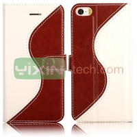 2014 new arrival wallet phone case for iPhone 5s case leather