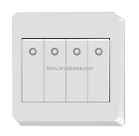 4 way white wall electric reset switch with led luminous light