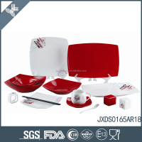 New design 65PCS Porcelain Square Dinner Set, porcelain plate set