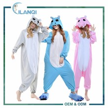ALQ-A055 Microfiber fabric cosplay funny animal adult thermal jumpsuit