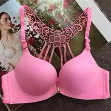 sexy beauty-back design bra with pure pretty color young women's padded bra top