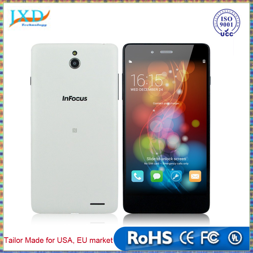 "5.0 Inches 5"" Infocus M512 4G FDD LTE Smartphone HD IPS Quad Core Android 4.4 Mobile Cell Phone 1GB RAM 4GB ROM 8MP CAM"