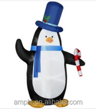 Holiday Living Christmas Inflatable Penguin with Candy Cane