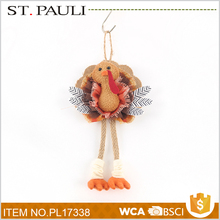 new trend product handmade turkey design hanging decoration festival giveaways for thanksgiving day