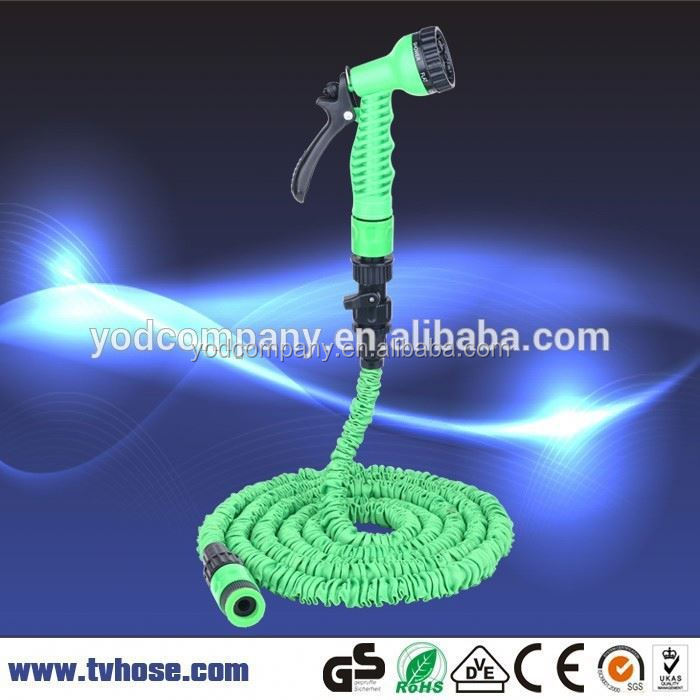 2 hours reply latex expanding car washing hose pipe for irrigation