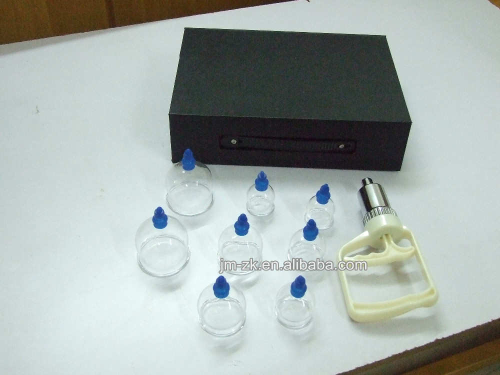 Dingyao high quality glass vacuum cupping set hijama therapy