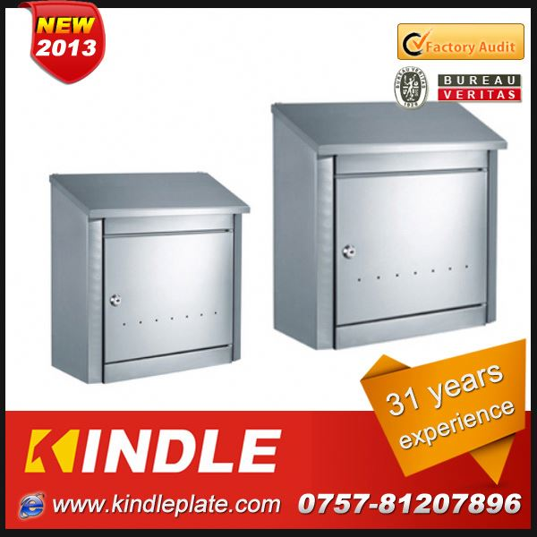 Kindle modern wall mounted OEM & ODM High Quality stainless steel postbox for sale with 31 years experience