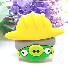 customized cute animal shape soft rubber silicone pvc fridge magnet for wholesale