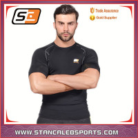 Stan Caleb Black high quality custom compression sports wear Compression sublimation fitness wear manufacturer