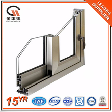 Double glazed frame sliding operator aluminum glass window profile with handle lock