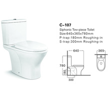C-107Contact Supplier Chat Now! European luxury ceramic two piece wc corner toilet