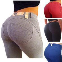 Sexy Fitness Pants Cotton Bottom High Elastic Plus S-XL Push Up Pants Women Leggings Bodybuilding Leggins