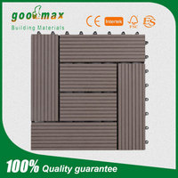 2016 latest design green material wpc decking tile/ wpc floor