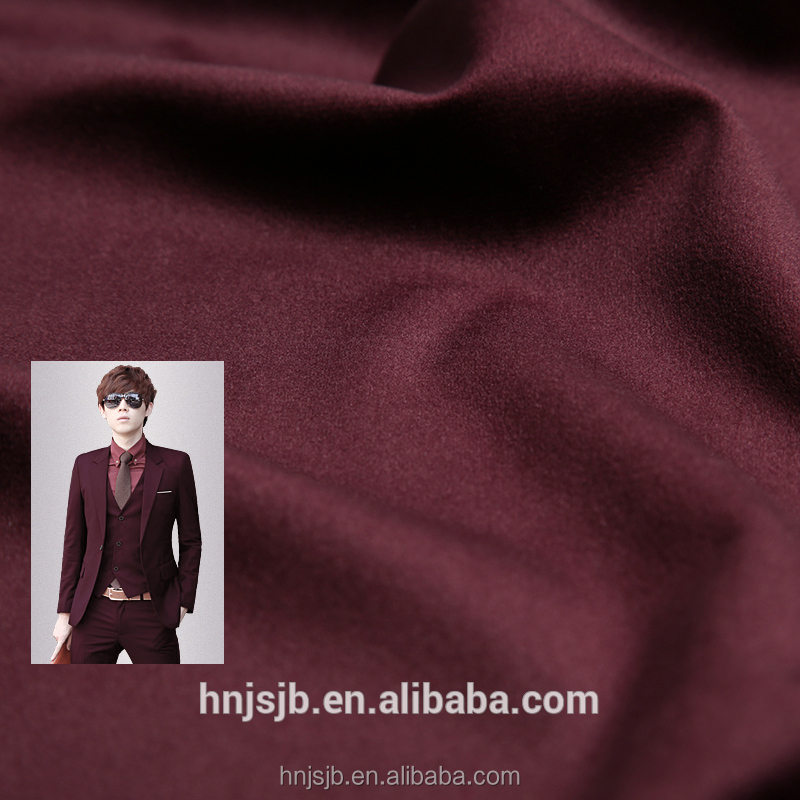 High quality China supplier 100% polyester velboa fabric for man suit trousers cloth
