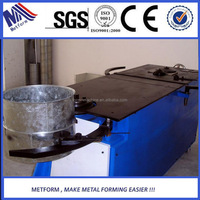 Mechanical elbow forming machine for round ventilation duct
