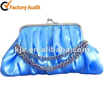 Clear Blue Evening Bag for Woman
