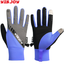 All Season Running Gloves Men Women Touch Screen Reflective Bicycle Gloves Full Finger Cycling Hiking Sports Glove