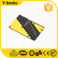 Folding Blade Knife Type and steel Handle Material Credit Card Knife