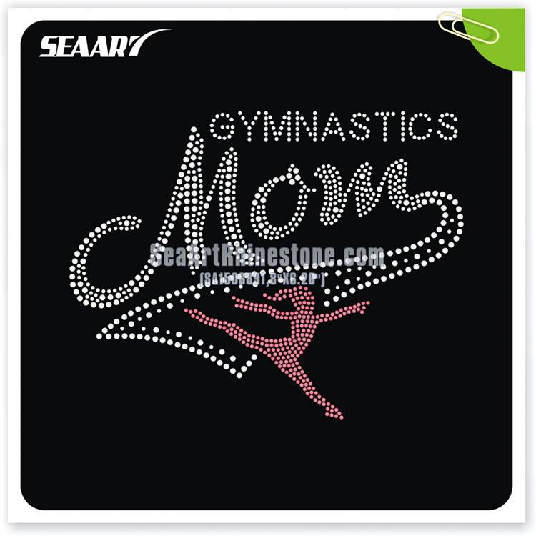 Ice Skate Gymnastics Rhinestone Transfer Girl Scout Heat Transfers Iron On For T Shirt