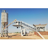 25m3/h precast ready mix mobile concrete batching plant price